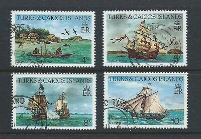 Turks & Caicos First 4 Stamps From 1983 Ships Issue (Sg 769-72) Used Condition