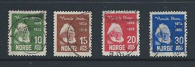 Norway 1928 Ibsen Centenary Set (Sg 200-203)