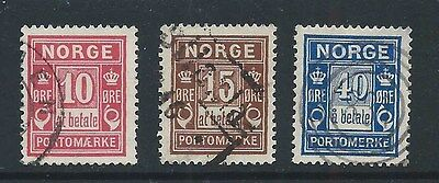 Norway Used Postage Due Stamps