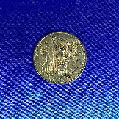 """COLORADO Lions """"Theres GOLD Still In Them Thar"""" (2 Men Panning) MEDAL COIN TOKEN"""
