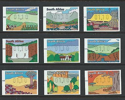 South Africa 1998 Machine Label Set Of 9