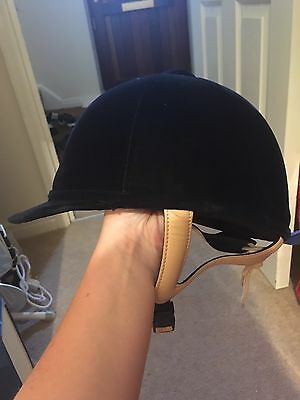 Caldene Navy Velvet Horse Riding Hat 54cm