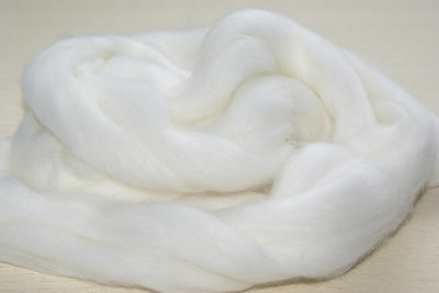 White Merino Wool Top Roving Needle Felting / Spinning / Wet Felting