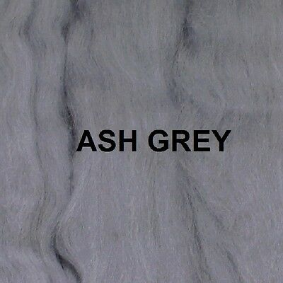 Ash Grey Merino Wool Top Roving Needle Felting / Spinning / Wet Felting