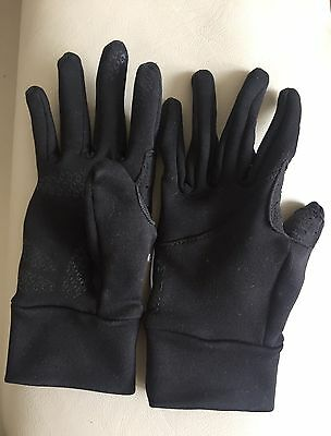 Kids Oxylane Gloves Juniors Hands Protection Sports Accessories 8yrs Black