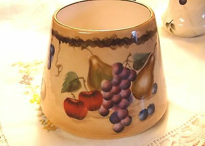 Candle Topper Shade Large Home Interiors Sonoma Fruit Ceramic earthenware