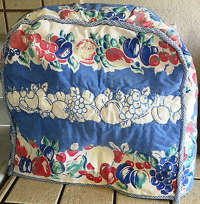Hand Made Sewn Quilted Kitchen Aid Mixer Cover from Vintage Tablecloth Fabric