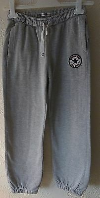 boys grey converse tracksuit bottoms age 10/12 yrs