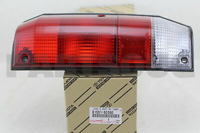 8155160380 Genuine Toyota LENS, REAR COMBINATION LAMP, RH 81551-60380
