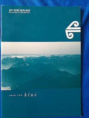 AIR NEW ZEALAND Document Image Brochure ca. late 80's ealy 90's