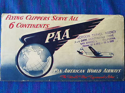 Airline Ticket Cover / Flugschein Hülle / PAN AMERICAN 1953