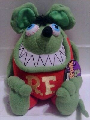 "Rat Fink Green 12"" Plush Ed ""big Daddy"" Roth Funko 2010 Mint W/ Tag"