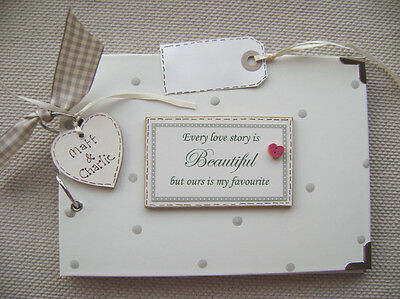 Personalised  Love Story A5 Size  Photo Album/scrapbook/memory Book.