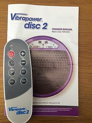 Vibrapower Disc 2 Remote and Manual