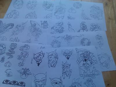 100 sheets of TATTOO FLASH LINERS...VGC