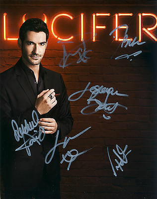 Lucifer 2016 TV Series Hand Signed By Cast Of All 6 10x8 !