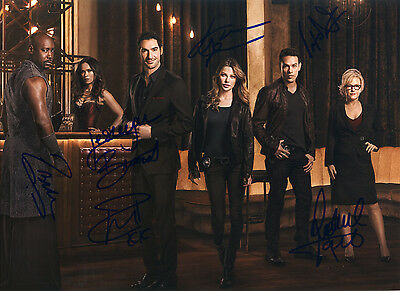 Lucifer 2016 TV Series Hand Signed By Cast Promo 11x8 !
