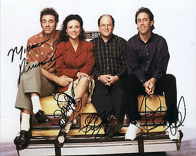 Seinfeld Hand Signed By All Cast Of 4 TV Series 10x8 !