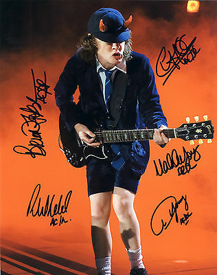 "AC/DC Hand Signed By Band 'World Tour"" Live In Concert 10x8"