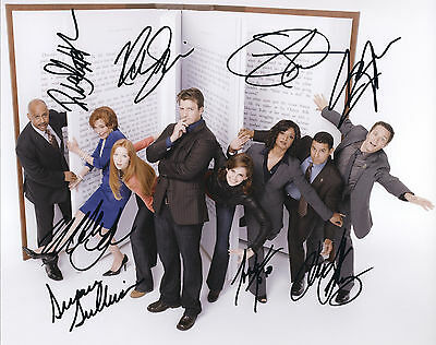 Castle TV Series Hand Signed Cast Of All 8 Promo 10x8 !