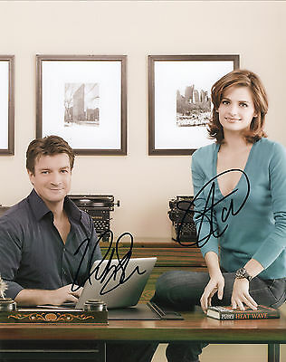 Castle Series Hand Signed By Stana Katic & Nathan Fillion 10x8