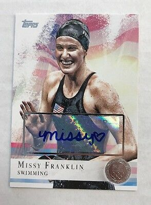 Missy Franklin 2012 Topps Olympic Silver Auto /50 Rc Rookie