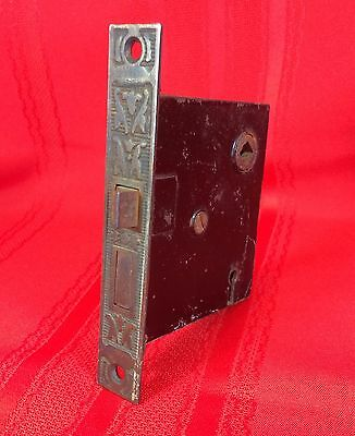 Vintage Mortise Lock Decorated Faceplate Victorian