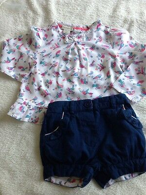 Monsoon Baby Girl Outfit Age 3-6 Months