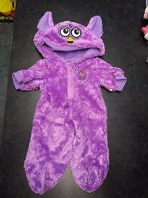 designer a bear clothes  lilac  furby outfit used