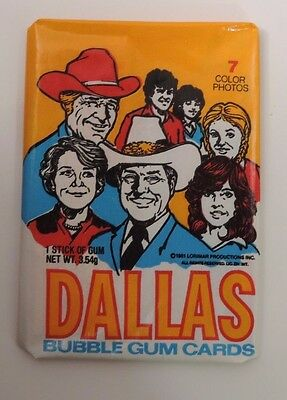 Donruss 1981 Dallas Trading Cards 1 Unopened Wax Pack