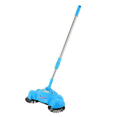 New Arrival 360 Rotary Home Use Magic Manual Telescopic Floor Dust Sweeper Blue