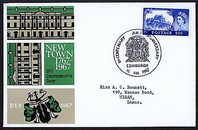 GB Edinburgh Castle10s FDC BICENTENARY & ANNIV EDINBURGH SHS Cancel 1967
