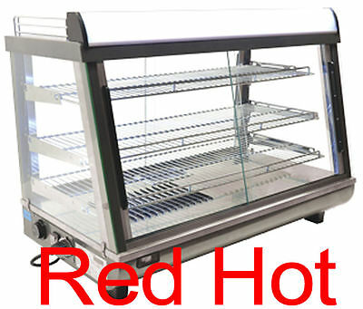 "Fma Omcan 39999 DW-CN-0136 Commercial 35"" Hot Food Warmer Glass Display Case"