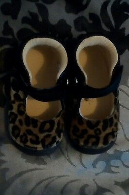 baby girls leopard print shoes size 3 mothercare excellent condition
