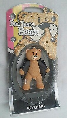 Bad Taste Bears Keychain WILLY Novelty Gag Adult Gift Figure Crude Rude New Ted