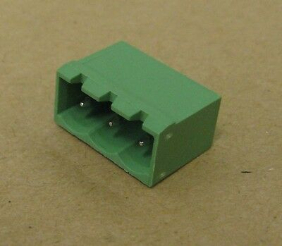 10x Terminal Block Header 5.08mm Pitch 3 Way Horizontal R/A Pluggable Socket FCI