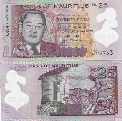Mauritius - 25 Rupees 2013 UNC Polymer Lemberg-Zp