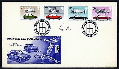 Gb Fdc 1982 Signed  Stirling Moss British Motor Cars  Authenticity Certificate