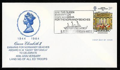 Fdc 1984 London Economic Summit Shs Queen Embarks On H.m.y Britannia Cv $75.00