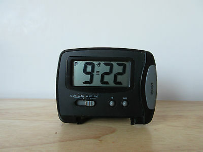 Compact Folding Travel Alarm Clock with LCD Display