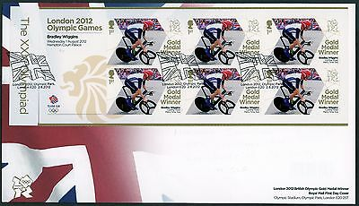 Fdc 2012 Bradley Wiggins Gold Medal First Day Cover London Olympic Games