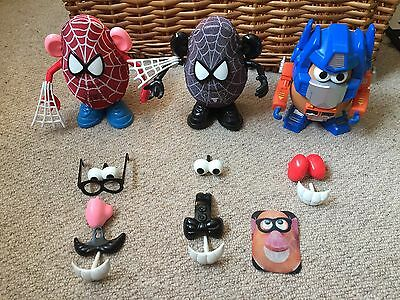 3 X Mr Potato Head'S – Transformers + Spider Man  – Mixable Toy Story
