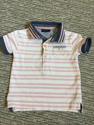 Next Baby Boys Polo T-shirt Age 3-6 Months