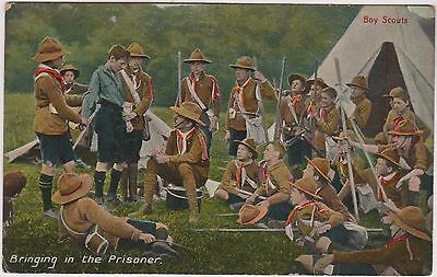Boy Scout Postcard - Bringing In The Prisoner - Scouting - National Series