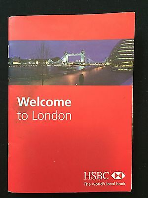 HSBC Fold Out Map Of London, England Tourist Travel UK Britain Europe Navigation