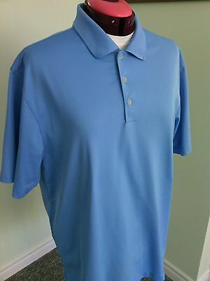 Nike Men's Blue Polo Shirt Size L Performance Top Lightweight Fit Sports Tour t