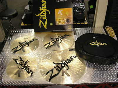 New Zildjian K Light Pack, 22,19,17,15 Pair with Cymbal Bag    ONLY $899.00