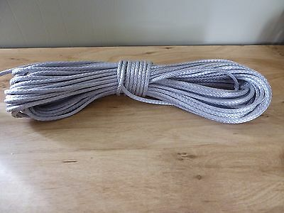 "1/8 "" x 56 ft. Pre-Cut Dyneema rope hank. Gray. Made in the USA."