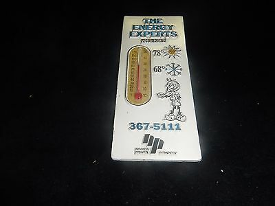 Vintage Nevada power the energy experts Ready Kilowatt magnet thermometer