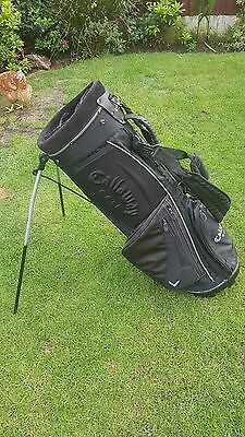 Callaway Golf Stand Bag, Black With Dual Shoulder Strap